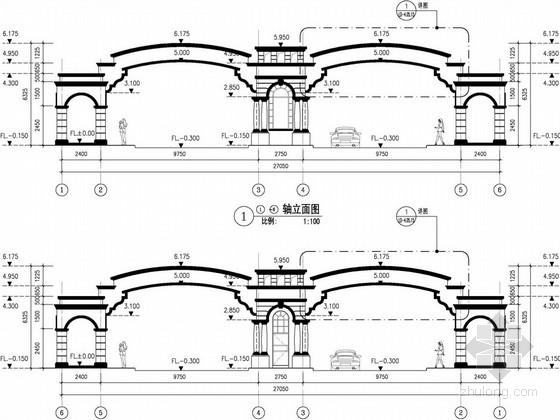[桂林]欧式别墅售楼处景观细节施工扩初设计方案(独家原创)