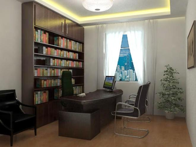 西城小型办公室装修的效果图
