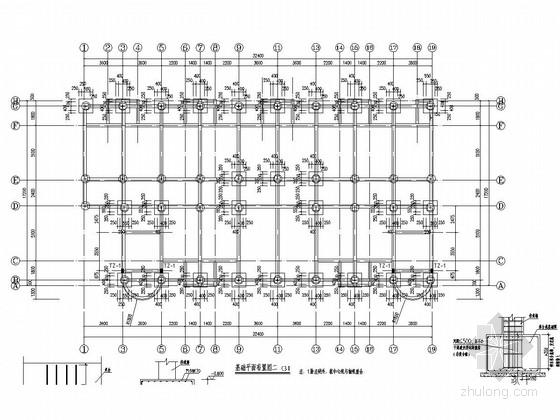 [重庆]六层(局部七层)框架结构中心小学宿舍楼结构施工图