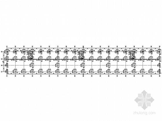 三層鋼框架結構大型汽車產業園結構施工圖(含建施)