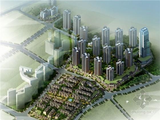 [重庆]新中式风格住宅小区规划设计方案文本(L型总平 造型优美)