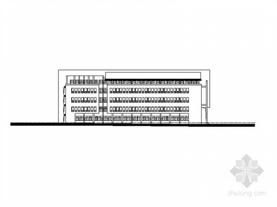 [安徽]高层玻璃幕墙式大学公共教学楼建筑施工图
