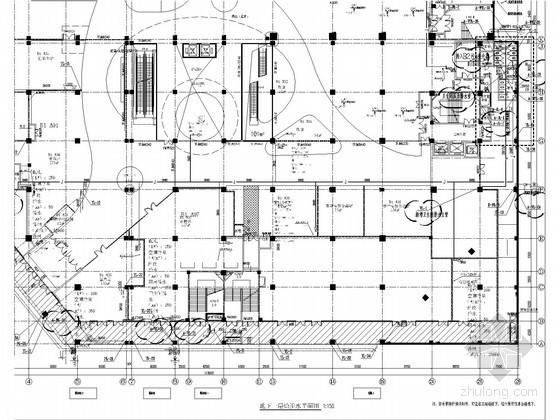 消防图管路图资料下载-[湖南]商业综合楼给排水及消防施工图(自动喷淋)