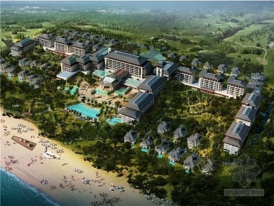 [海南]东南亚风格度假酒店规划设计方案文本