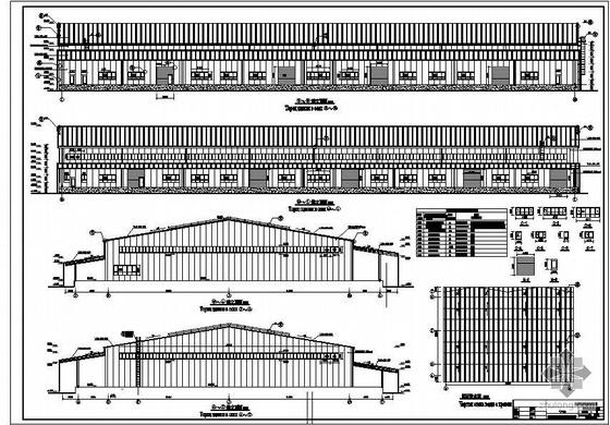 [中外]某钢结构仓库建筑结构施工图