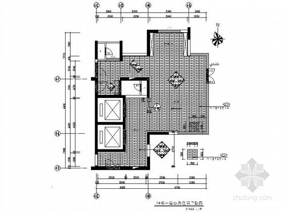 [长沙]东塘商圈区高档尊贵国际公寓设计装修施工图(含方案)