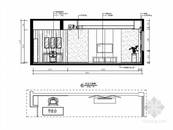 [武汉]现代矿业集团办公楼装修图(含效果)茶室立面图