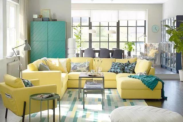 你不知道的客厅彩色沙发,给你不一样的格调。_5