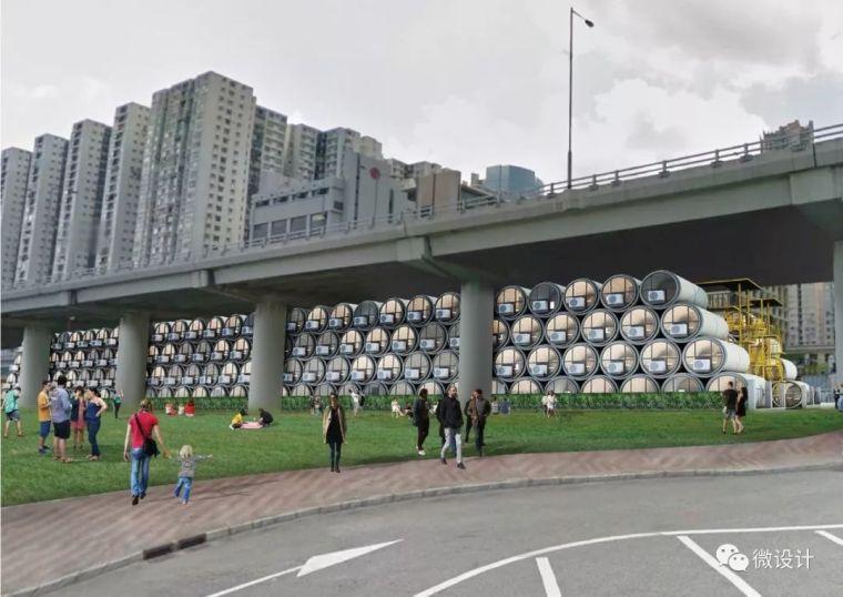 为了香港穷人不再蜗居,他们用水泥管做成了公寓_25
