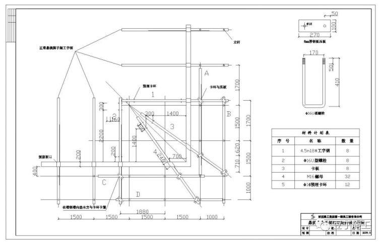 型钢悬挑扣件脚手架,在楼层转角处这样搭设,是不是更好一些?