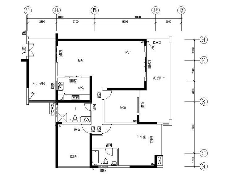 现代简约风格三居室设计施工图(含实景图)