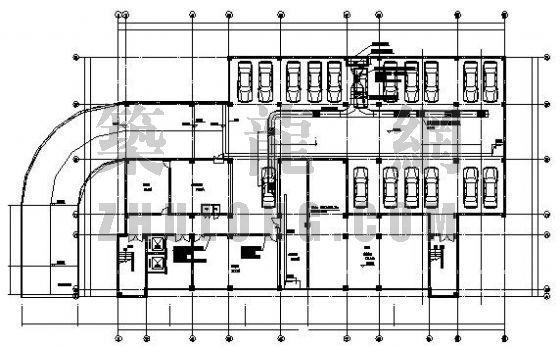 常熟市某住宅楼地下室排风平面图