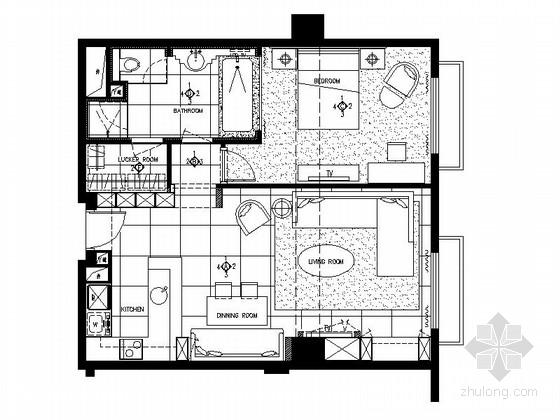 [北京]某小户型公寓样板间室内精装修施工图(含实景)