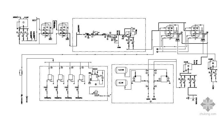某电厂40m3/h脱盐水工艺流程图