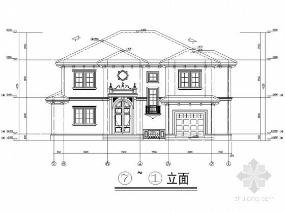 两层框架结构私人别墅建筑结构全套图