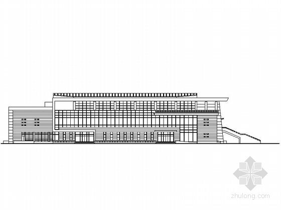 [湖北]3层现代风格县级第一中学体育馆建筑设计施工图(含电气,结构等图纸)