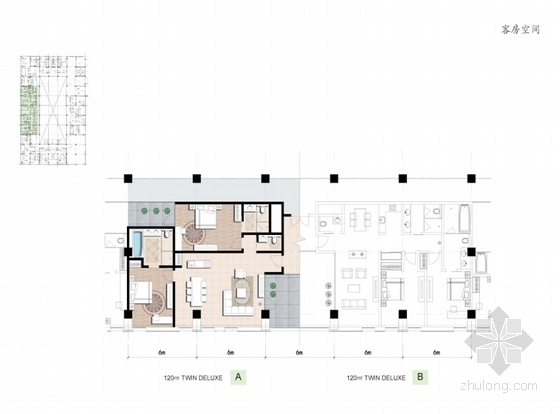 [四川]古典风格绿色度假酒店建筑设计方案文本-古典风格绿色度假酒店平面图