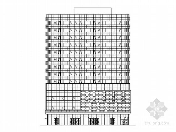 十三层现代风格办公楼建筑施工图