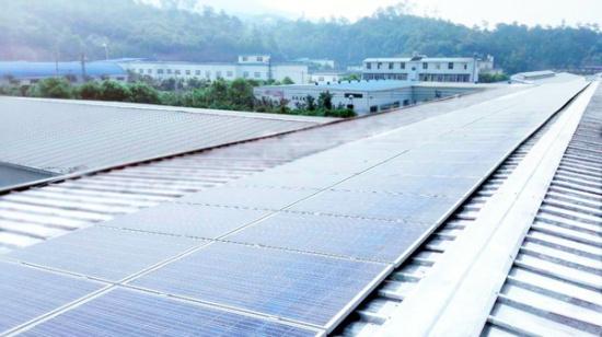 星巴克的屋顶光伏电站顺利并网发电