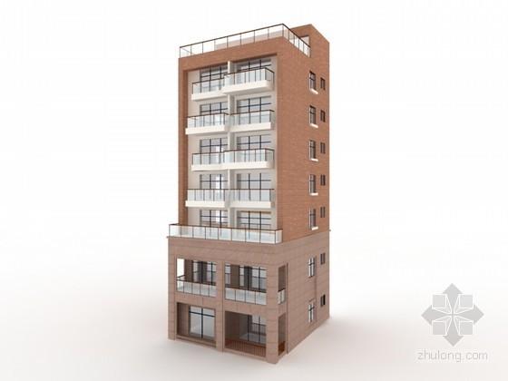 独栋住宅楼3d模型下载