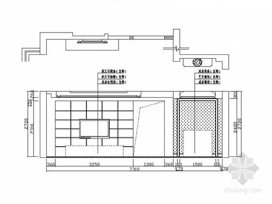 [天津]新古典风格三居室装修图(含效果图) 立面图
