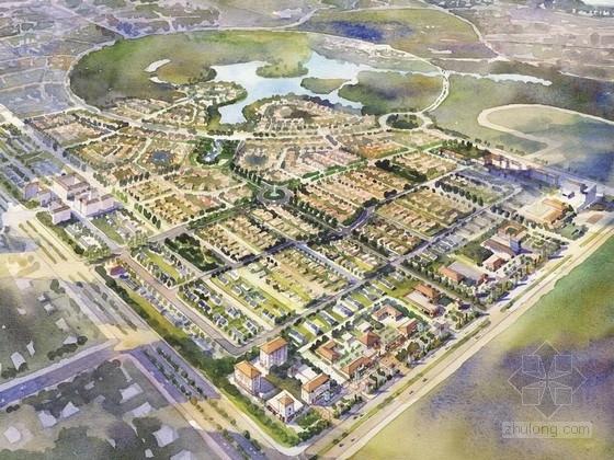 [河北]欧式风格住宅区规划及单体设计方案文本(美国知名建筑设计事务所)