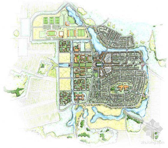 美国大学校园景观规划概念设计