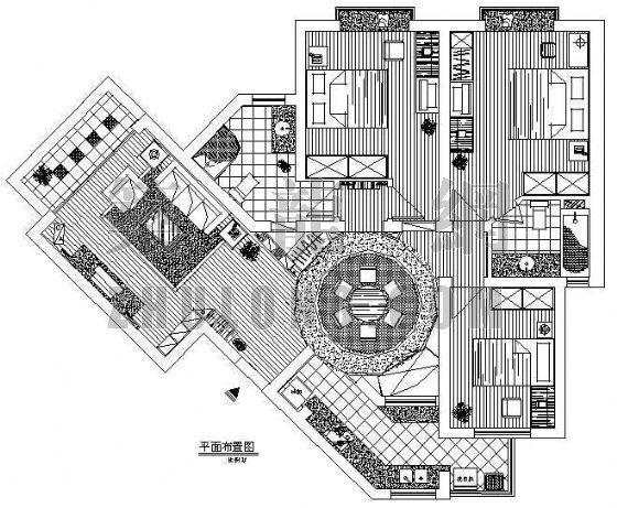 三室二厅两卫家装装修图