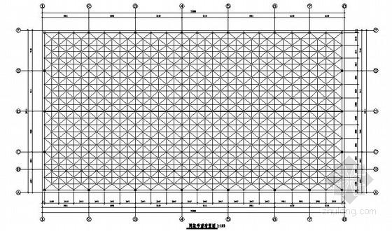 螺栓球节点正放四角锥网架结构活动中心施工图(上弦支承)