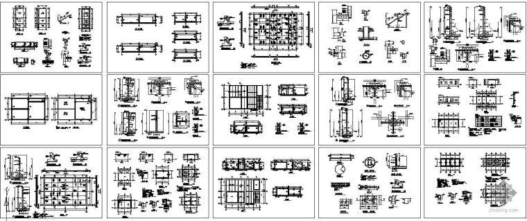 某水池S8抗渗建筑结构图