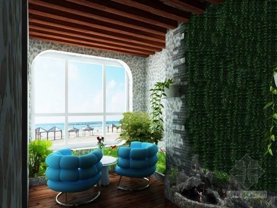 地中海风格入户门厅3D模型下载