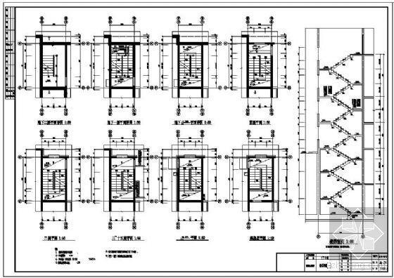 某高层住宅楼楼梯节点构造详图