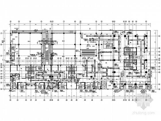 [唐山]商业综合楼暖通空调设计全套施工图纸(含人防)