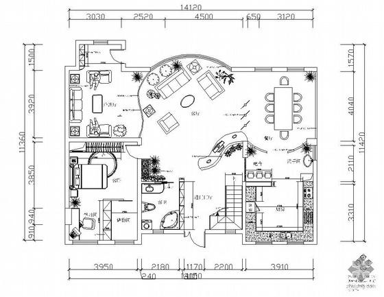 [昆明]三层别墅装修图