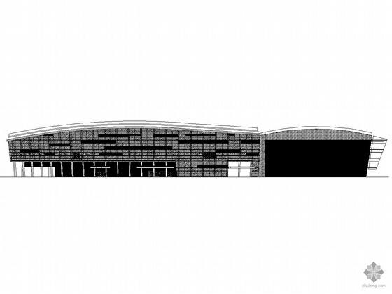 [深圳市]某城市中部人民体育场公园二段现代商业综合楼建筑施工图(带效果图)