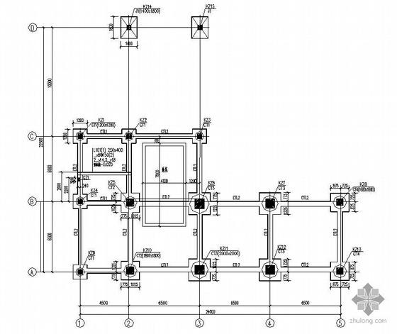 某钢结构工业储库结构施工图