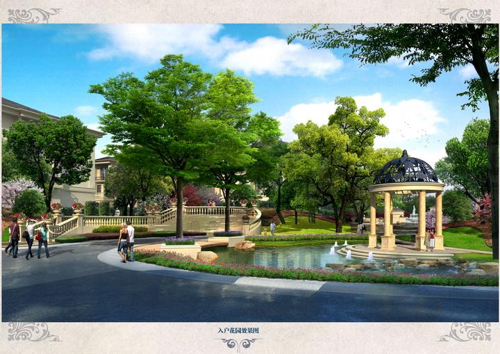 法式园林别墅区景观设计方案图片