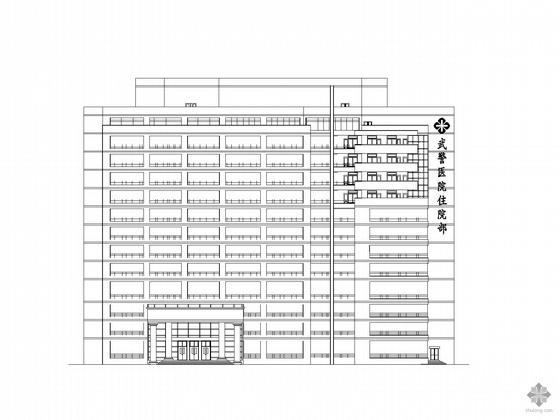 [乐山]某武警医院十三层住院楼建筑方案扩初图