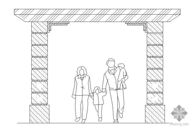 某广场欧式景门施工详图