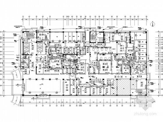 [天津]医院外科综合楼暖通空调设计施工图(地源热泵)