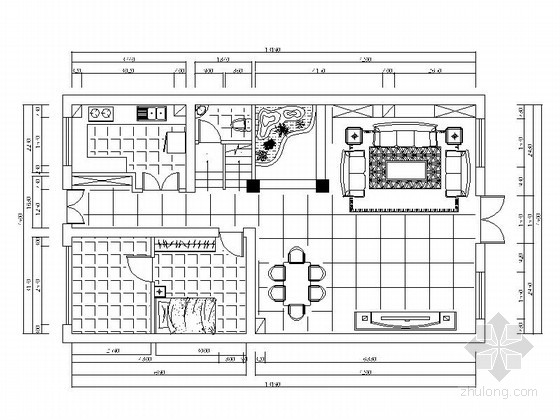 优雅精致三层别墅欧式风格装修施工图(含效果图)