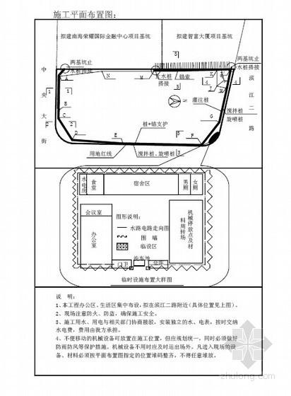 [广东]基坑支护与土方工程施工方案(搅拌桩、旋喷桩等)