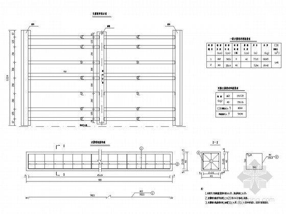 2×10m预应力混凝土简支空心板桥支撑梁布置及钢筋构造图