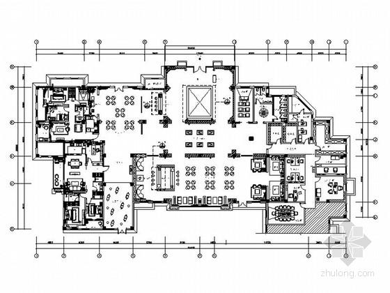 [上海]豪华欧式风情售楼处室内装修施工图(含高清效果图)
