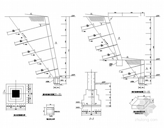 岩质边坡锚杆挡墙支护施工图(含设计计算书)