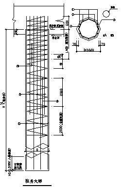 边坡采用人工挖孔灌注桩加锚杆支护形式设计图