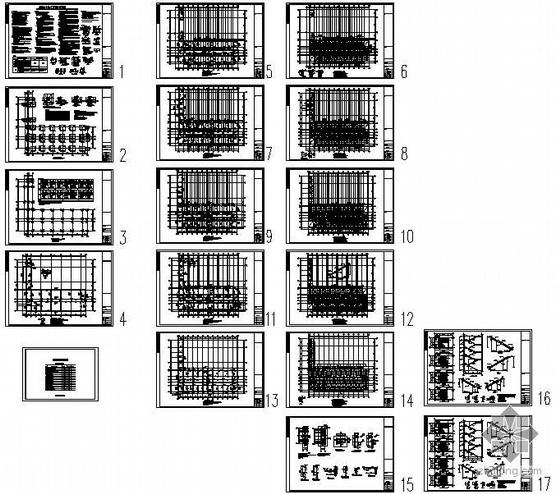 某学校餐厅宿舍楼结构设计图
