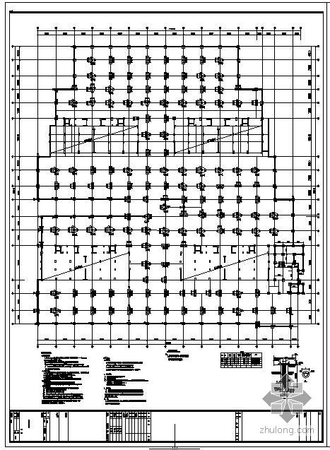 某人防地下车库结构设计图