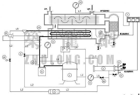 冷冻式压缩空气干燥机制冷系统配置图