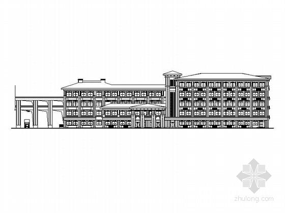 [浙江]五层新中式风格中学实验楼建筑施工图